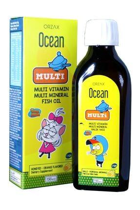 Orzax Ocean Multi Ballı Portakal Aromalı 150 Ml Şurup Multi Vitamin, Multi Mineral, Balık Yağı 1