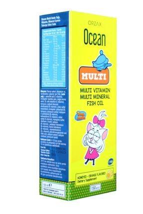 Orzax Ocean Multi Ballı Portakal Aromalı 150 Ml Şurup Multi Vitamin, Multi Mineral, Balık Yağı 2