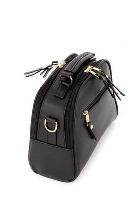 Espardile Kadın Siyah Mini  Model El Ve Omuz Çantası 3