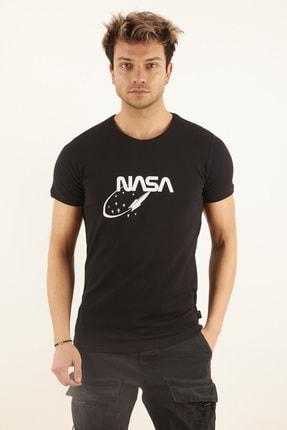 TRICKO Erkek Siyah Baskılı T-shirt 0