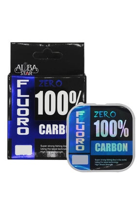 AlbaStar Zero %100 Fluorocarbon Misina CLEAR 0.35MM - 25M - 8.04KG 0