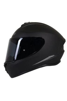 Axxis Kask Draken Matt Black Motosiklet Kaskı 0