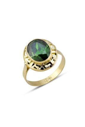 Altın Grek Zümrüt Yeşili Yüzük YZGRK1012003