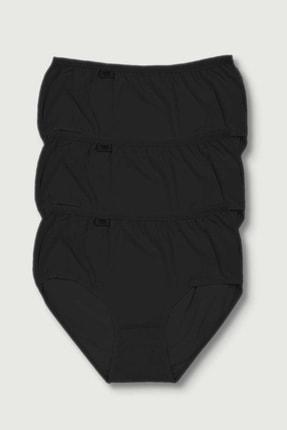 Tutku Kadın Siyah Bato Külot 3lü Paket 0