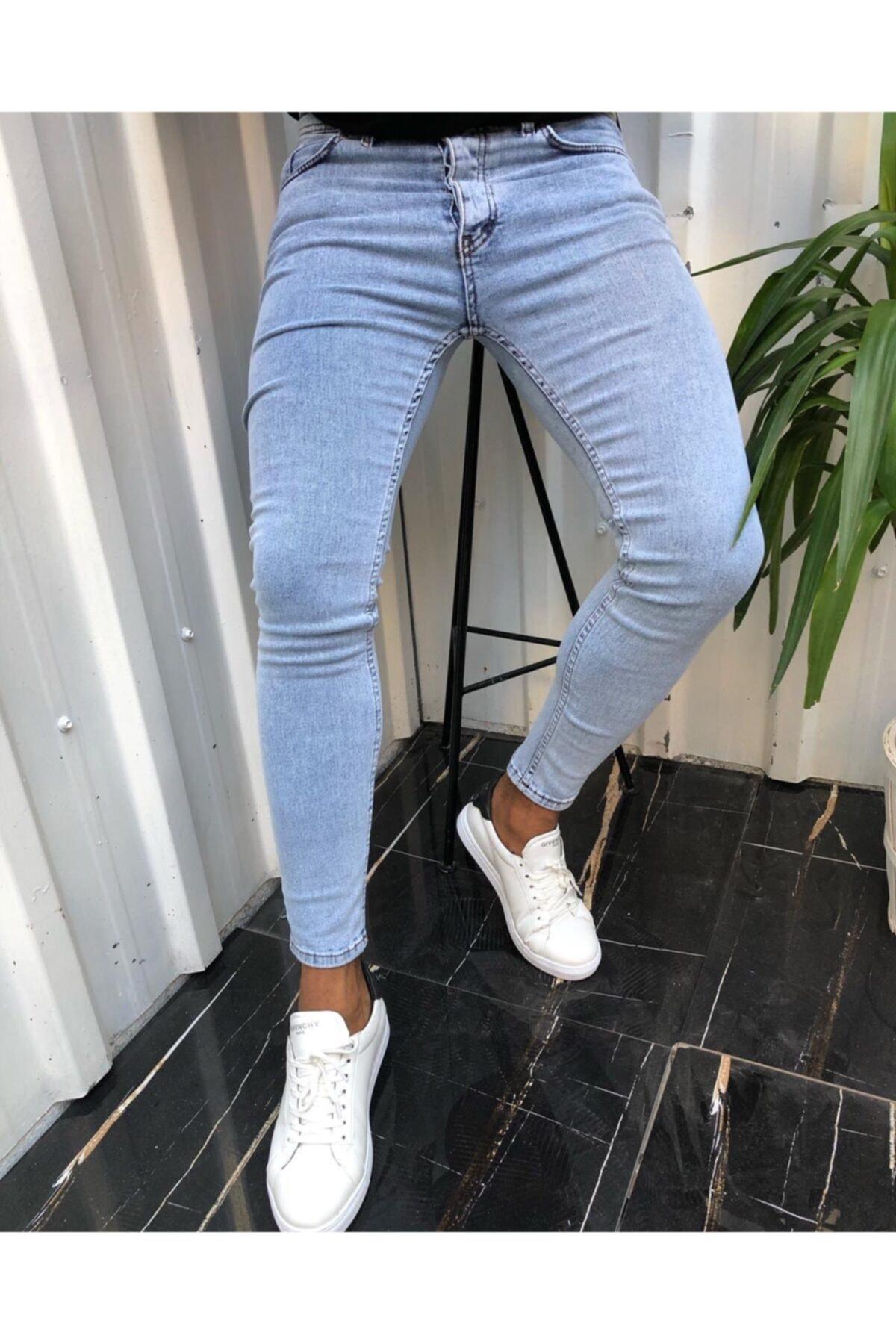 Erkek Mavi Slim Fit Kot Pantolon