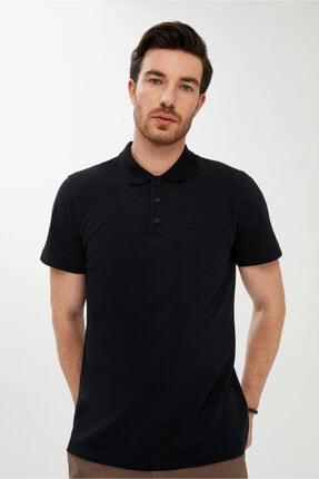Kiğılı Erkek Siyah Regular Fit Polo Yaka Tişört 1