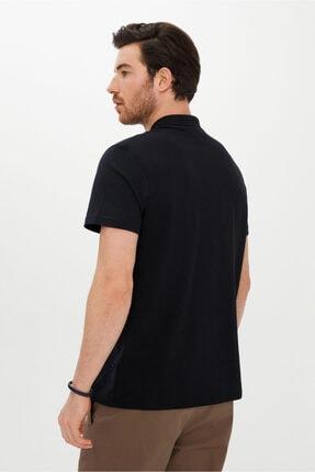 Kiğılı Erkek Siyah Regular Fit Polo Yaka Tişört 2