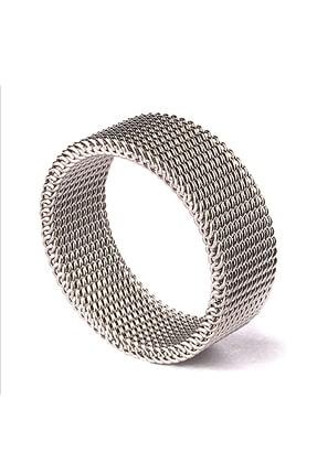 Chavin Unisex Esnek Gri Çelik Örgü Yüzük n48 0