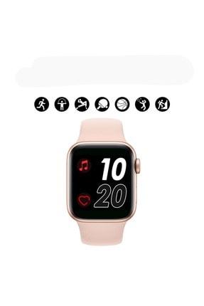 Shotex Iphone 11 Cep Telefonu Uyumlu Rose Gold Akıllı Saat Smart Dijital Watch 3