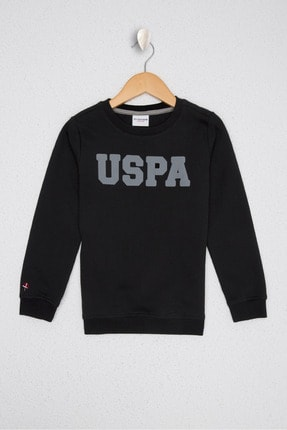 US Polo Assn Siyah Erkek Çocuk Sweatshirt 0