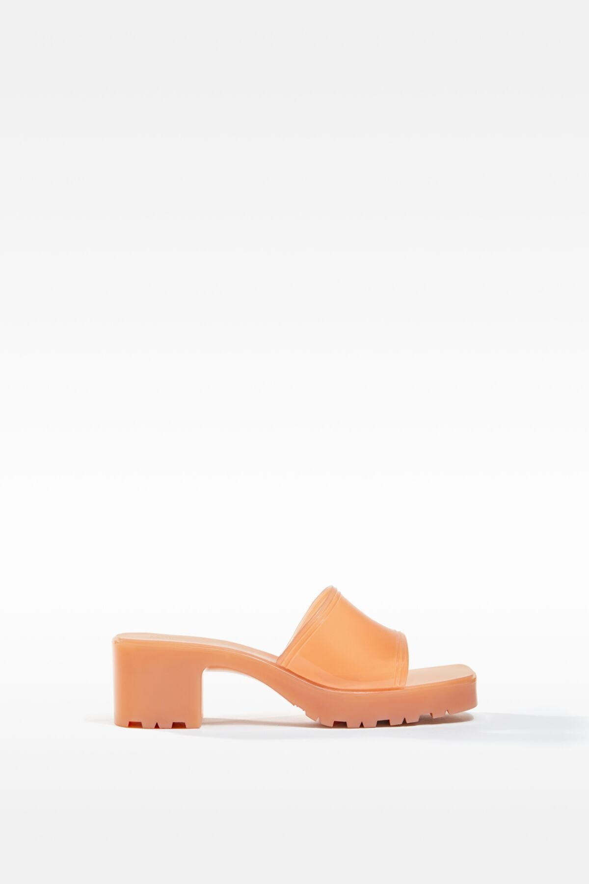 Bershka Kadın Ekru Parlak Topuklu Sandalet 11722760 0