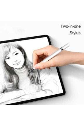Fibaks Dokunmatik Kalem Tüm Cihazlara Uyumlu Tablet Telefon Için Çizim & Yazı Kalemi 2 In 1 Disk Uçlu 3