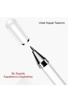 Fibaks Dokunmatik Kalem Tüm Cihazlara Uyumlu Tablet Telefon Için Çizim & Yazı Kalemi 2 In 1 Disk Uçlu 4