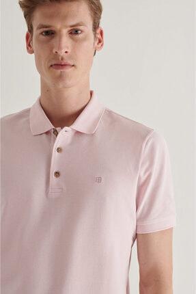 Avva Erkek Açık Pembe Polo Yaka Düz T-shirt A11b1174 1