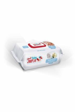Baby Turco Beyaz Sabun Kokulu Islak Havlu 24X90 Lı 0