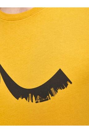 Ltb Erkek  Sarı  Baskılı  Kısa Kol Bisiklet Yaka T-Shirt 012208453260890000 4