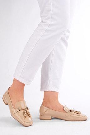 Marjin Kadın Bej Rugan Loafer Ayakkabı Desar 1