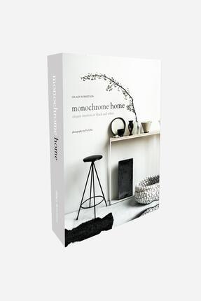 LYN HOME & DECOR Monochrome Home Dekoratif Kitap Kutu 0