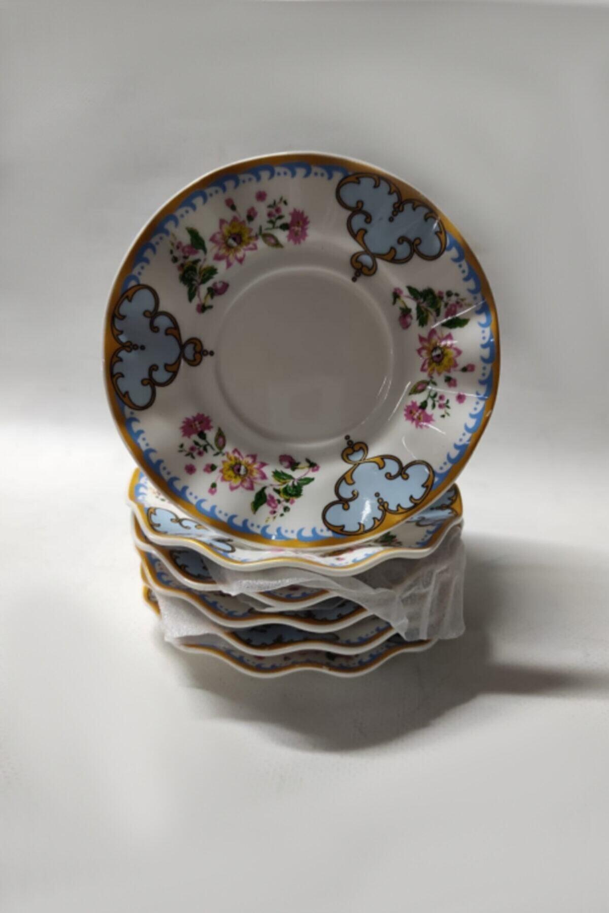 6 Lı.porselen Çay Tabağı