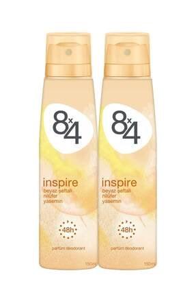 8x4 Inspire Kadın Deodorant Sprey 150 ml 2 Adet 0