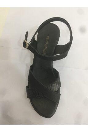 Ceyo Kadın  Siyah Anatomik Sandalet 0