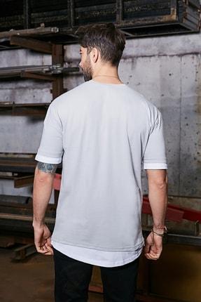 Sateen Men Erkek Gri Baskılı T-Shirt 2