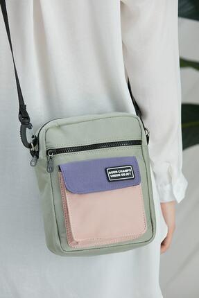 CuCu Bag's Unisex Yeşil Üç Gözlü Cross Bag Çanta Cc2113-1 3