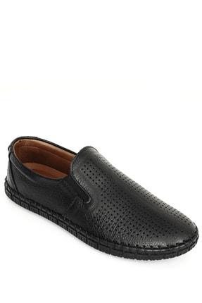 GÖNDERİ(R) Hakiki Deri Siyah Erkek Günlük (Casual) Ayakkabı 01225 3