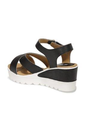 Polaris 91.308569.Z 1FX Siyah Kadın Dolgu Topuklu Sandalet 101016737 2