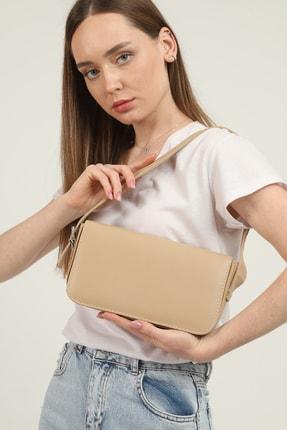 Gülçem Çanta Kadın Nude Geniş Baget Çanta 0