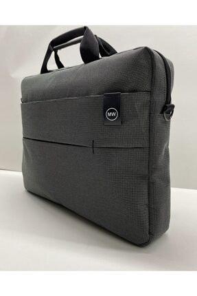 """Moda West Unisex Koyu Gri West Serisi 15.6"""" Inç Evrak Bilgisayar Notebook Laptop Çantası 0"""