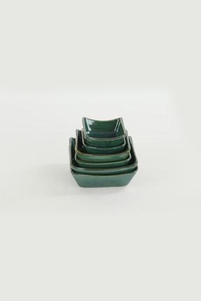 Keramika Zümrüt Sandal Çerezlik Sosluk 08-10-12 cm 6 Adet 1