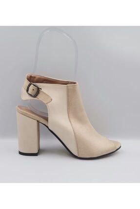 Kadın Bej Topuklu Ayakkabı BEJ TOPUKLU KADIN AYAKKABI