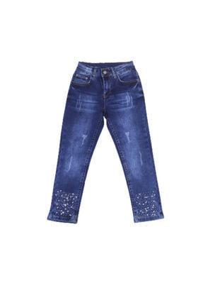 Kız Cocuk Mavi Kot Pantolon 8216