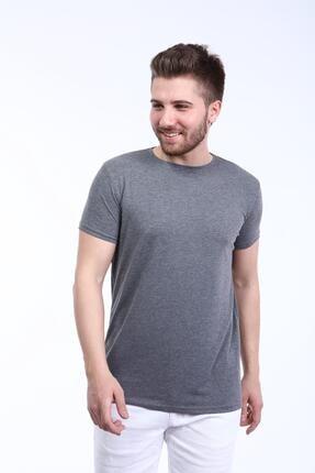 İng drop Erkek Çok Renkli 3'lü Paket Basic Slim Fit T-shirt 2