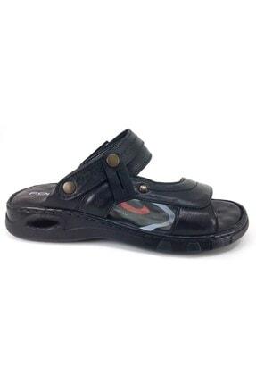 Forelli M40507 Hakiki Deri Erkek Anatomik Terlik Sandalet Siyah 0
