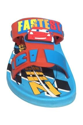Gezer Kaymaz Taban Mavi Şimşek Mcqueen Temalı Çocuk Sandalet Terlik 1