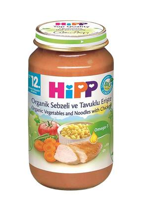 Hipp Organik Sebzeli ve Tavuklu Erişte 220 gr Kavanoz Maması 0