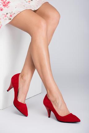 Fox Shoes Kırmızı Kadın Topuklu Ayakkabı A922151102 0