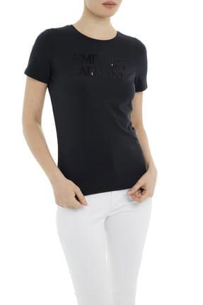 Emporio Armani Lacivert Kadın T-Shirt 3G2T86 2JQAZ 0920 2