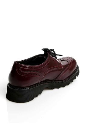 Lumberjack A3322297 Koyu Kırmızı Kadın Deri Ayakkabı 100200347 1