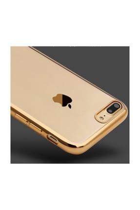 Microsonic Apple iPhone 8 Plus Kılıf Flexi Delux Gold 3