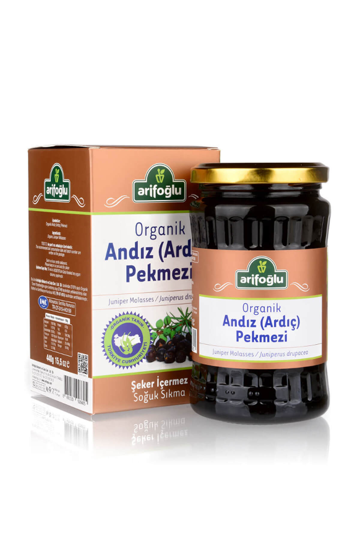 Organik Andız Pekmezi 440 gr (Soğuk Sıkım)