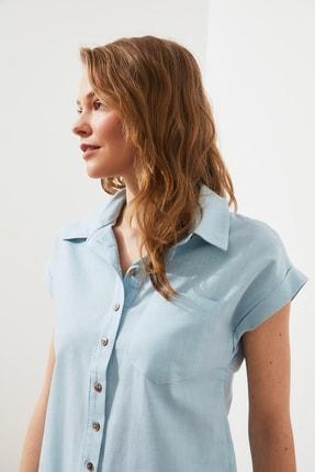 TRENDYOLMİLLA Mint Klasik Gömlek TWOAW20GO0081 1