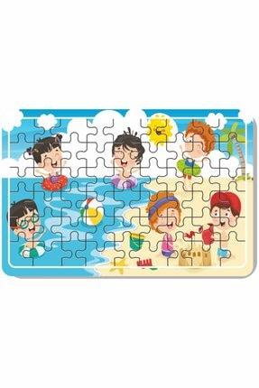 Baskı Atölyesi Çiftlik Hayvanları, Deniz, Tatil, Deniz Canlıları, Yılbaşı, Kardan Adam 54 Parça Ahşap Puzzle 3