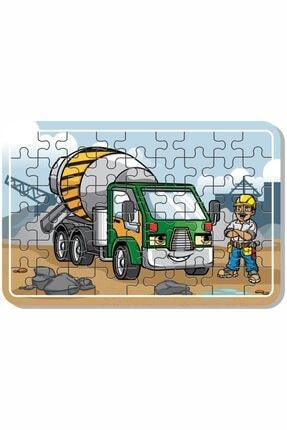 Baskı Atölyesi Çimento Arabası, Itfaiye, Arabalar 54 Parça Ahşap Puzzle 3