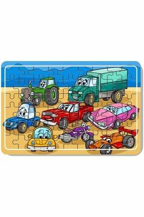 Baskı Atölyesi Çimento Arabası, Itfaiye, Arabalar 54 Parça Ahşap Puzzle 4