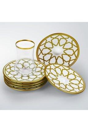 Koleksiyon Ev ve Mobilya 6lı Dervish Çay Seti Yıldız 4