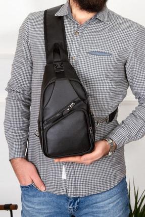 Leyl Yıkama Deri Göğüs Çantası Kulaklık Ve Şarj Çıkışlı Tek Kol Çarpraz Bodybag Mini Sırt Çanta 0