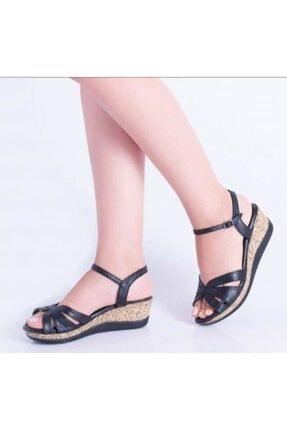 SERRACE Kadın Siyah Sandalet 0